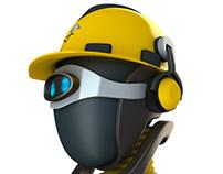 """""""Sekury"""" Robot, Company 3D Character"""