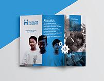 Brochure for Human Aid Initiative