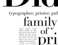 Didot Type Specimen Poster