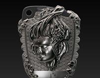 Geisha. 3D sculpting of jewellery.