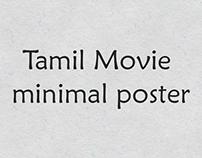 Tamil Movie minimal poster