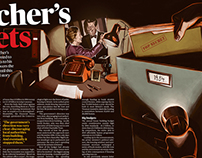 Thatcher's Secrets - Magazine Illustration