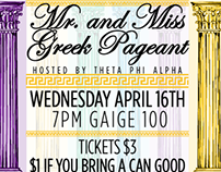 RIC Greek Life Mr. & Miss Greek Pageant