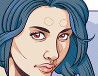 Motoko Fan Art (GITS) - enhanced version