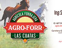 """Logotipo e imagen AGRICOLA FORRAJERA """"AGRO-FORR"""""""