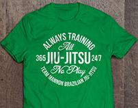 Team Mannon Brazilian Jiu-Jitsu Tees
