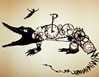 Peter Pan Paper-cut Shadow Installation
