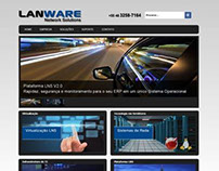 Portal gerenciável (Wordpress) da empresa LANWARE, espe