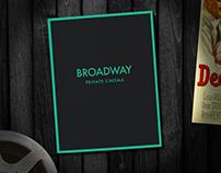 Broadway Private Cinema Menu Design