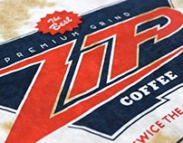 Zip Coffee Screen Printed Poster