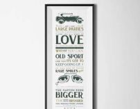 'Great Gatsby' Typographic Print