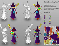 Lowpoly Game Character:Witch, 2013