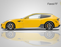 Rendering Illustrator, Ferrari FF
