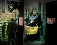 Homelessness in NYC Exhibition & Promotion Design
