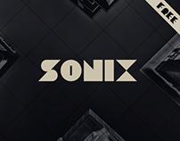 SONIX / free font