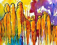 watercolour: Montserrat