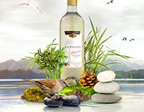 afternoon wine bottle