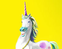 "Illiustration ""Labas Unicorn"""