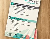 A5 Flyer for Novigo Engenharia