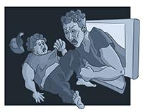 Cyberbullying Editorial Illustration
