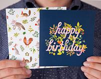 Botanic Birthday Cards