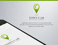 TOWN CAR international.  Car renting application.