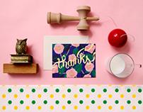 Camellia Thank You Cards