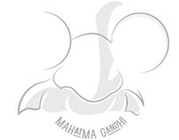 Graphic Design: Minimalistic Gandhi Quote