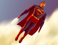 Classic Superman In Flight