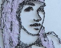 Pins/Thread Portrait