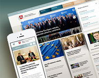 Responsive website for LT Foreign affairs ministry