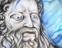 "Live Airbrush Performance "" Moses ""."