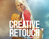 Baseball Girl Retouch and PostProduction