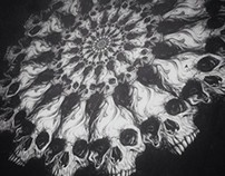 Skull Warp Prints