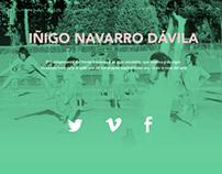 Web Desing Iñigo Navarro Dávila Portfolio