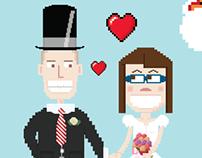 Retro Gaming Wedding Invitations