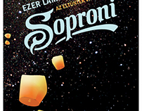 soproni beer label design