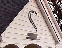 Whitehouse coffee shop logo and signage