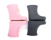 Minimalist Felt Booties for Children