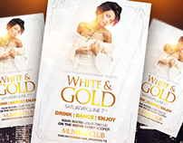 White and Gold Flyer Template