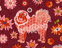Year of the Dog (surface pattern design)