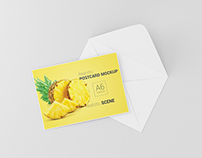 Postcard / Invitation Card Mockup - A6