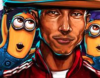 Pharrell & Minions Painting