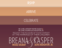 Haughton–Soliday wedding invitation