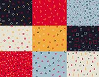 9 seamless patterns. Memphis. Free