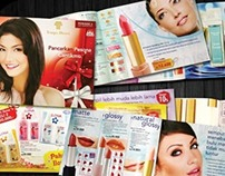 brochures for a cosmetic brand
