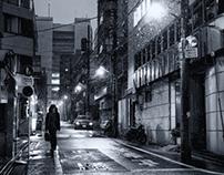 Snow falls in Tokyo