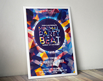 Minimal Party Beat Flyer Template Free Download