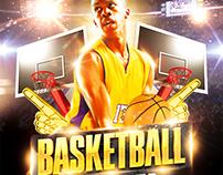 Basketball playoffs flyer, PSD Template
