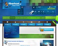 Fiberhost - dashboard - minecraft hosting website panel